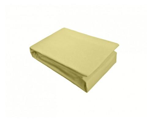 Cearceaf cu elastic Jersey 160x200 Galben