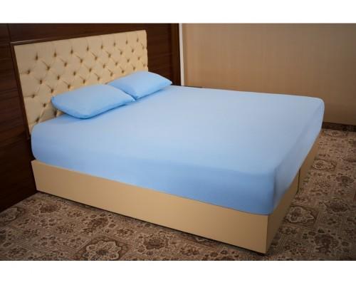 Husa de pat Bumbac 100% Albastru 160x200 + 2 Fete de Perna