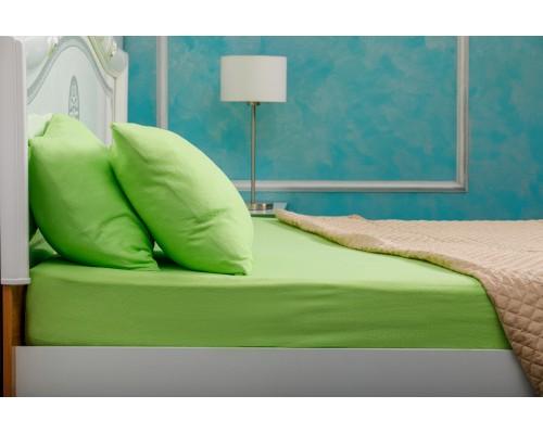Husa de pat Bumbac 100% 160x200 Verde + 2 Fete de Perna