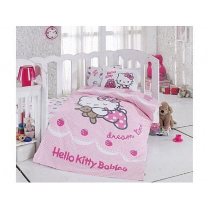 Lenjerie de pat Bebe Hello Kitty Ribbon