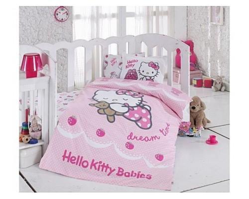 Lenjerie de pat Bebe Hello Kitty Ribbon