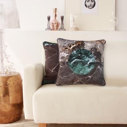 Set 2 Fete Perna Decorative din Catifea Earth 45 x 45 cm
