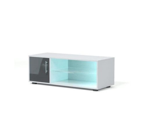 KORA Contemporary TV cabinet with LED lighting lacquered gray - L 100 cm