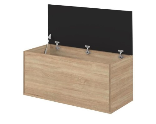 KNIGHT Shoe box - Oak and black decor - L 89 x D 39 x H 43 cm