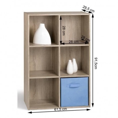 COMPO Contemporary oak chest of drawers - L 62 cm