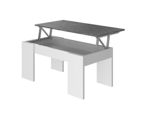 SWING Lifting Coffee Table - White and Gray - L 50 cm