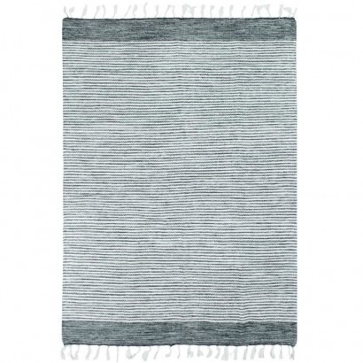 Covor Living Bumbac Terra - 160 x 230 cm - Gray, silver and white stripes