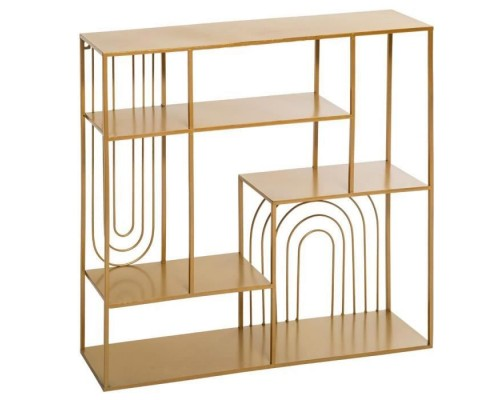 Slow wall shelf - L. 58 x l. 13 x H. 58 cm - Gold