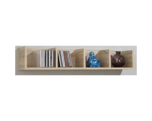 POINT Wall shelf - 92 x 16,5 x 17 cm - Oak