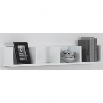 POINT Wall shelf - 92 x 16,5 x 17 cm - White