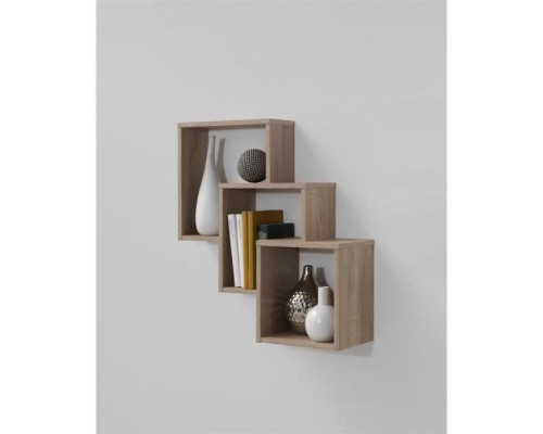 FIBI Wall Shelf - 64 x 65.5 x 19 cm - Oak