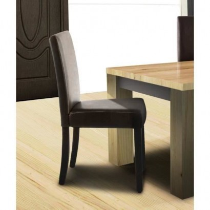 CLARA Set of 2 Dining chairs - Brown - Classic - L 43 x D 45 cm