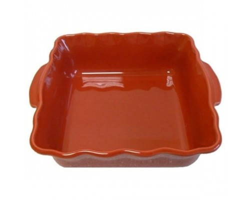ABALONE EDITION - 056023620 - Square dish - 23cm - Scalloped - Cherry color