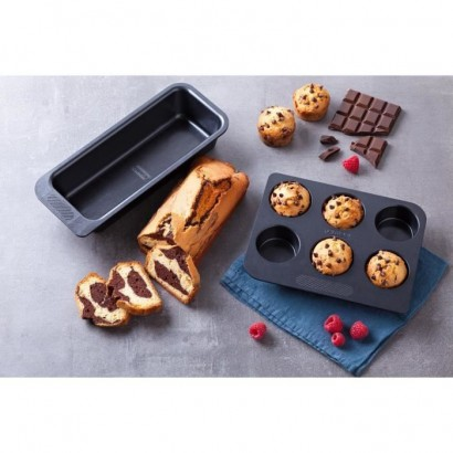PYREX - MAGIC - Mold with 6 metal muffins