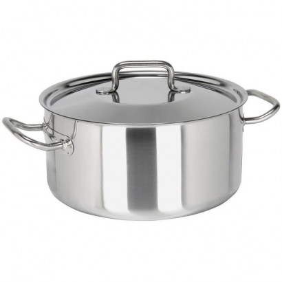 SITRAM Braisiere PROFESSIONNELLE - 710338 - 8.3L stainless steel with lid - All heat sources including induction