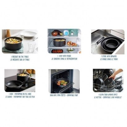 SITRAMOVIBLE BLACK PEPPER - 713776 - Sauté pan - All fires including induction