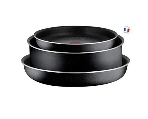 TEFAL INGENIO ESSENTIAL Black Set of 3 Pieces Frying pans 22/26 cm + Sauté pan 24 cm All hobs except induction L2007802