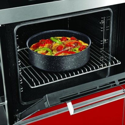 TEFAL Ingenio Authentic Induction Wok Pan - 26 cm - Speckled Black