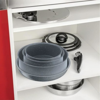 TEFAL L6800402 Ingenio Pan 24cm -All hobs including induction - Non-stick - Made in France - Stone Effect